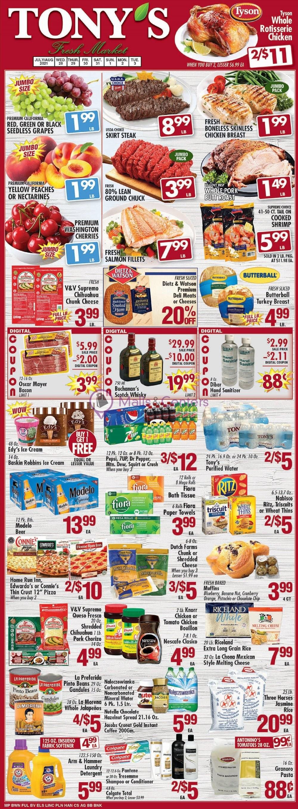 weekly ads Tony's Fresh Market - page 1 - mallscenters.com