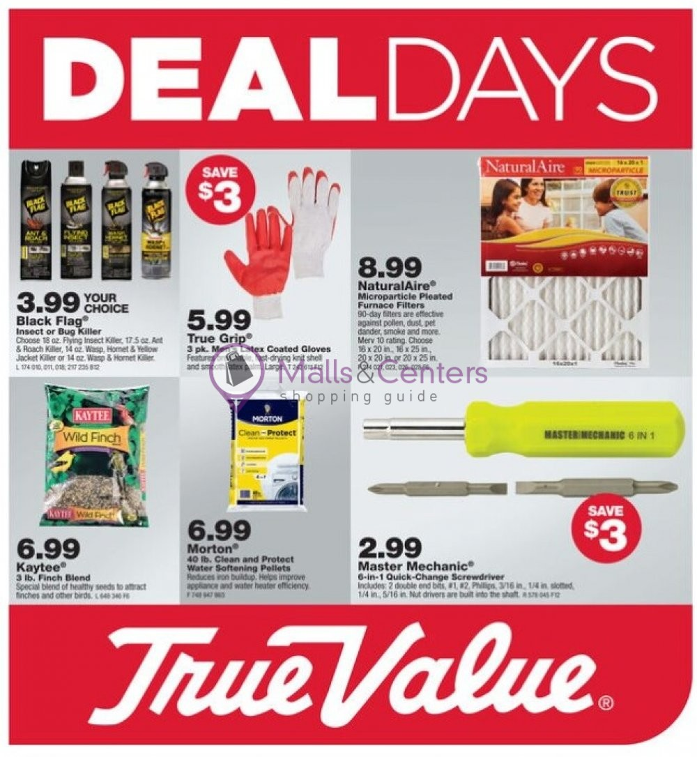 weekly ads True Value - page 1 - mallscenters.com