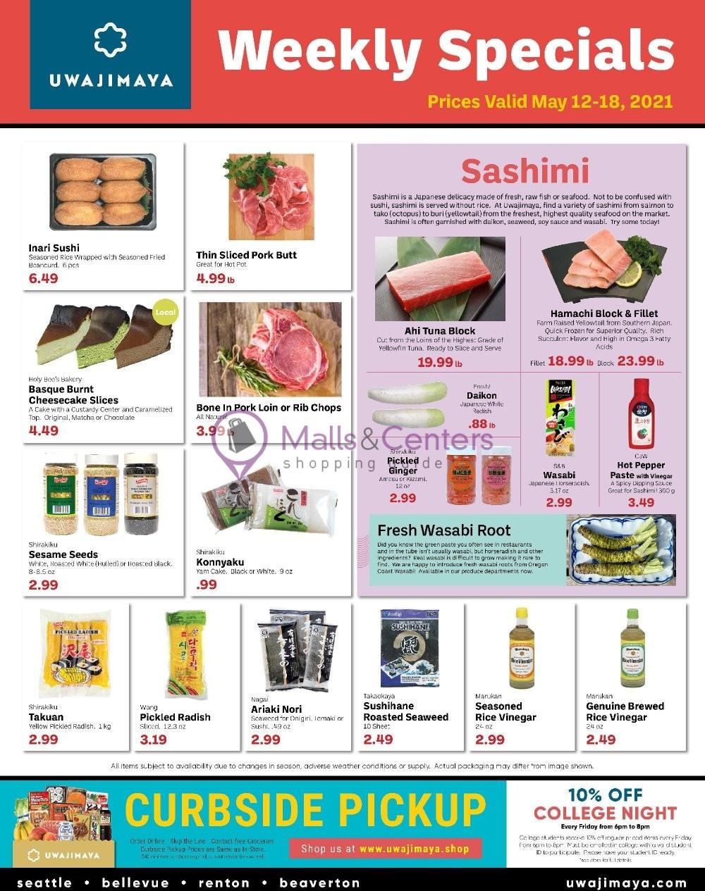 weekly ads Uwajimaya - page 1 - mallscenters.com
