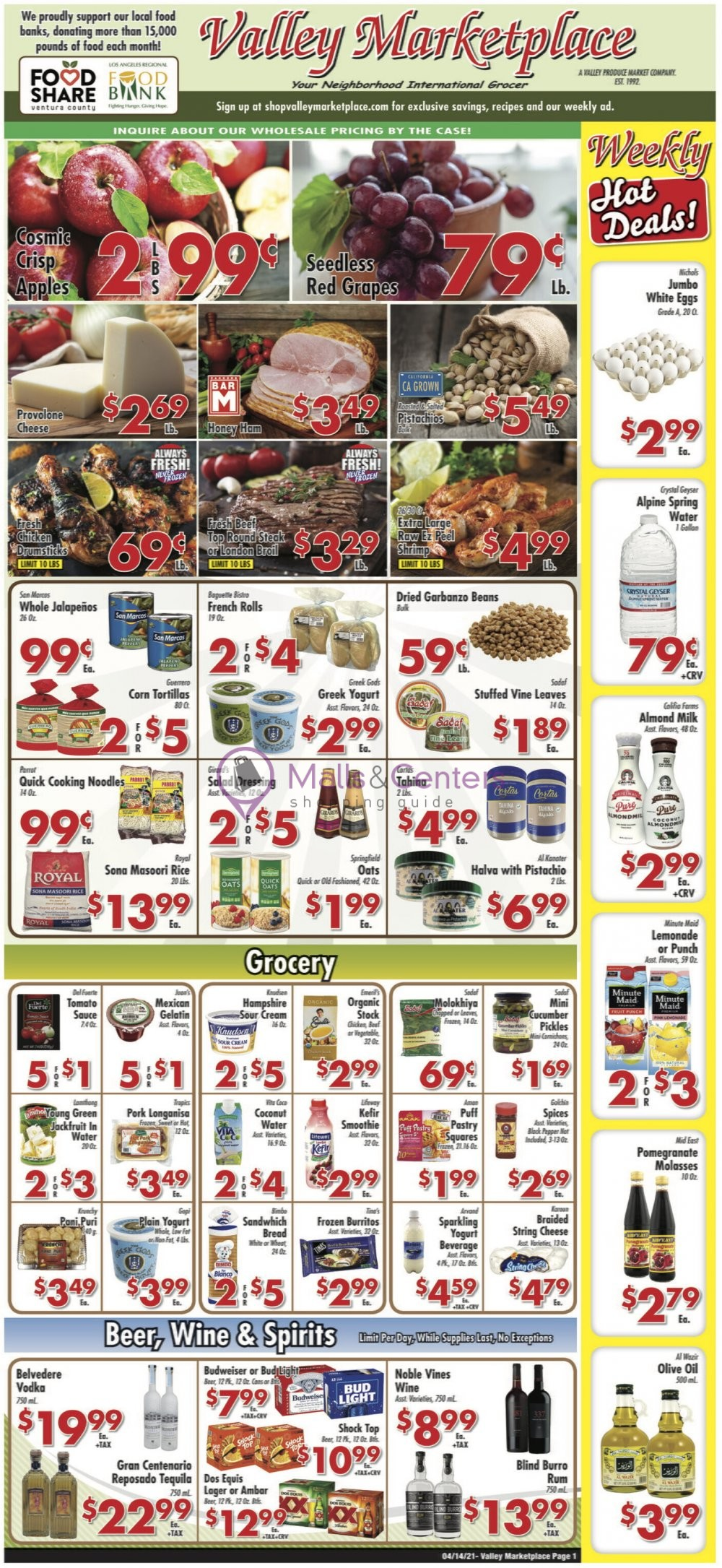 weekly ads Valley Marketplace - page 1 - mallscenters.com