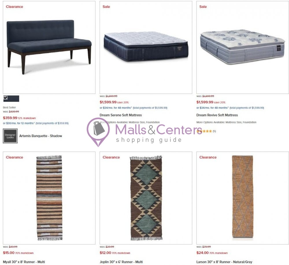 weekly ads Value City Furniture - page 1 - mallscenters.com