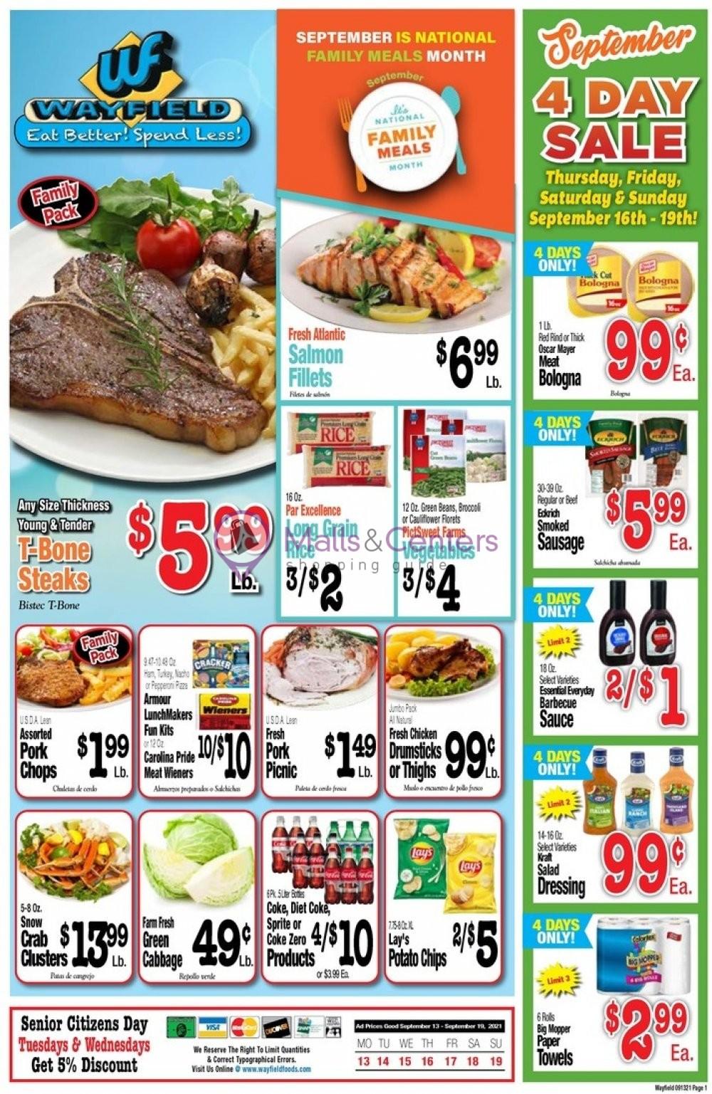 weekly ads Wayfield - page 1 - mallscenters.com