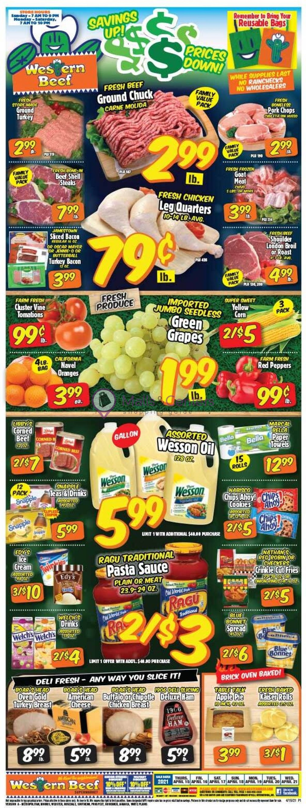 weekly ads Western Beef - page 1 - mallscenters.com