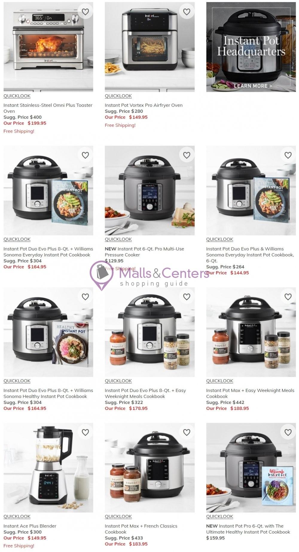 weekly ads Williams-Sonoma - page 1 - mallscenters.com