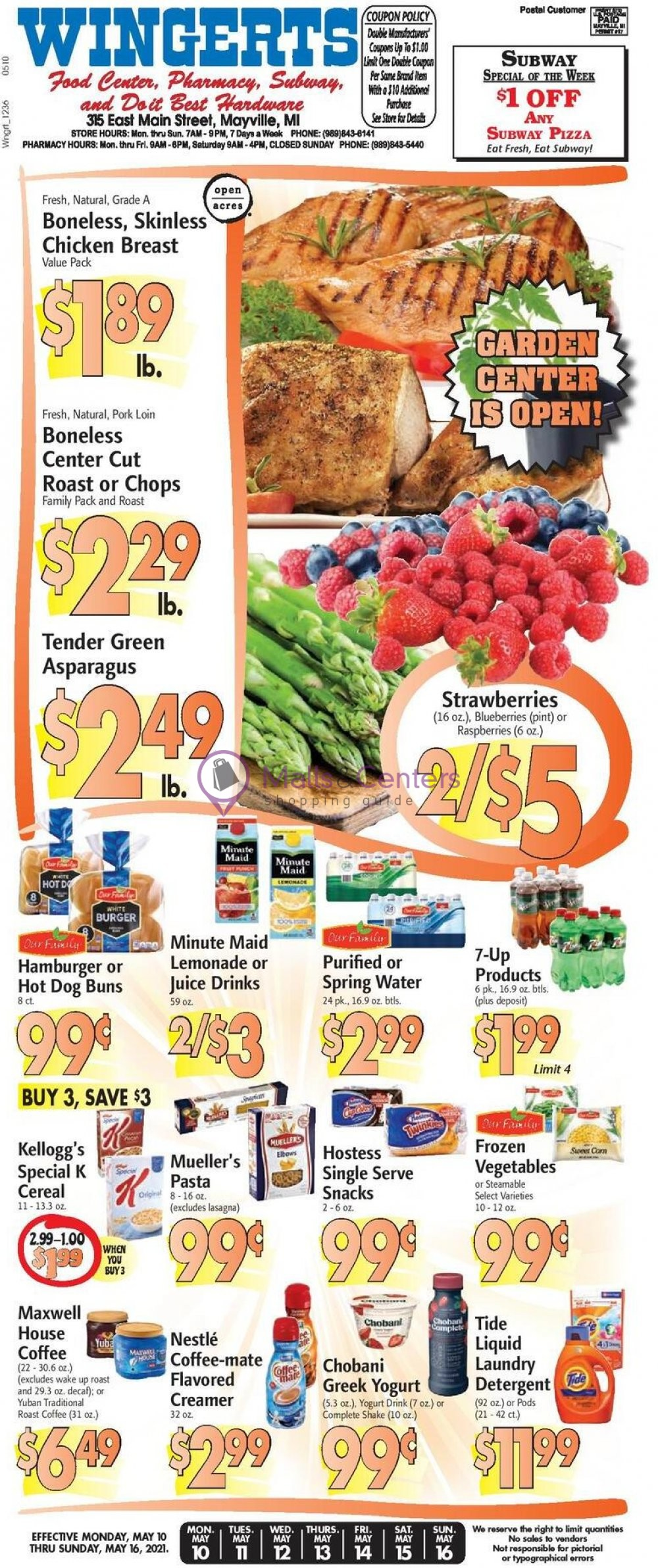 weekly ads Wingert's Food Center - page 1 - mallscenters.com