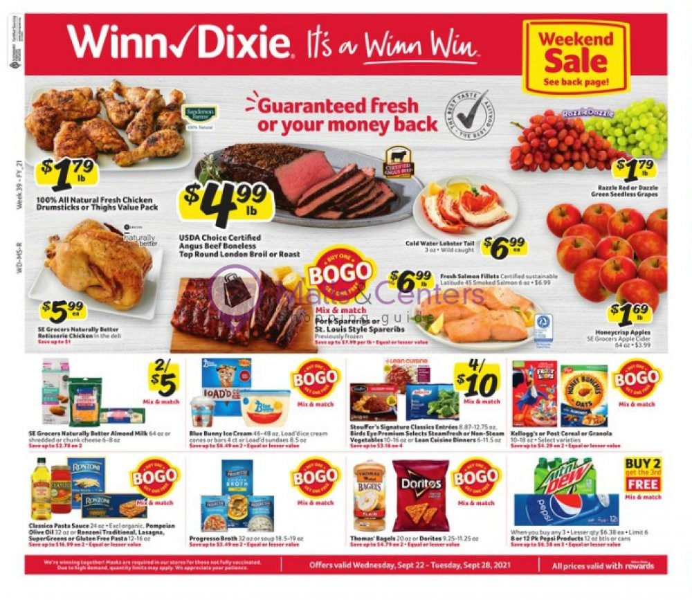 weekly ads Winn Dixie - page 1 - mallscenters.com