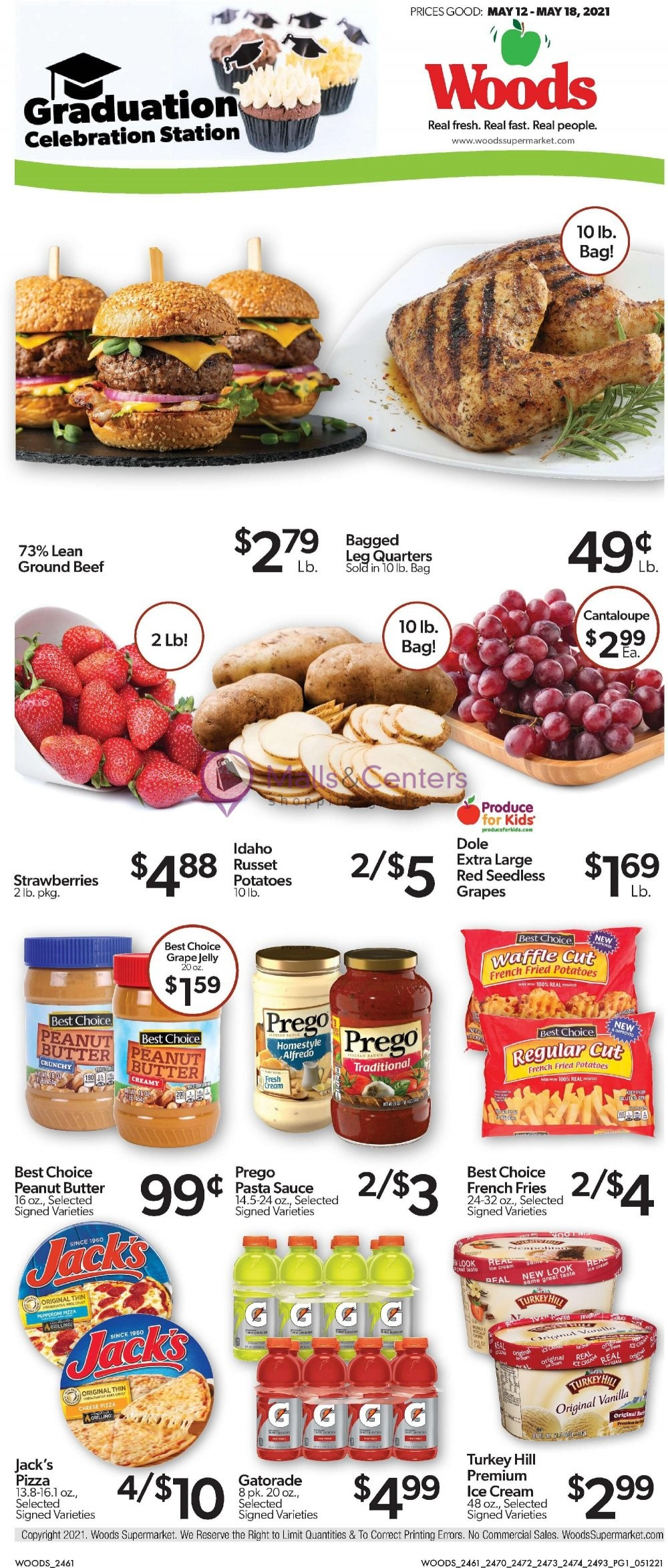weekly ads Woods Supermarket - page 1 - mallscenters.com