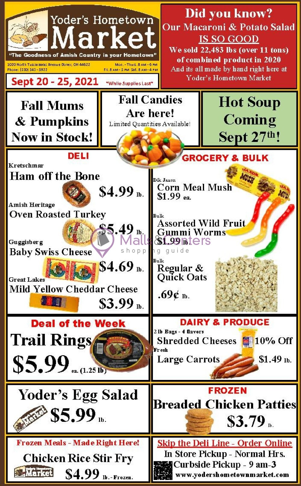weekly ads Yoder's Hometown Market - page 1 - mallscenters.com