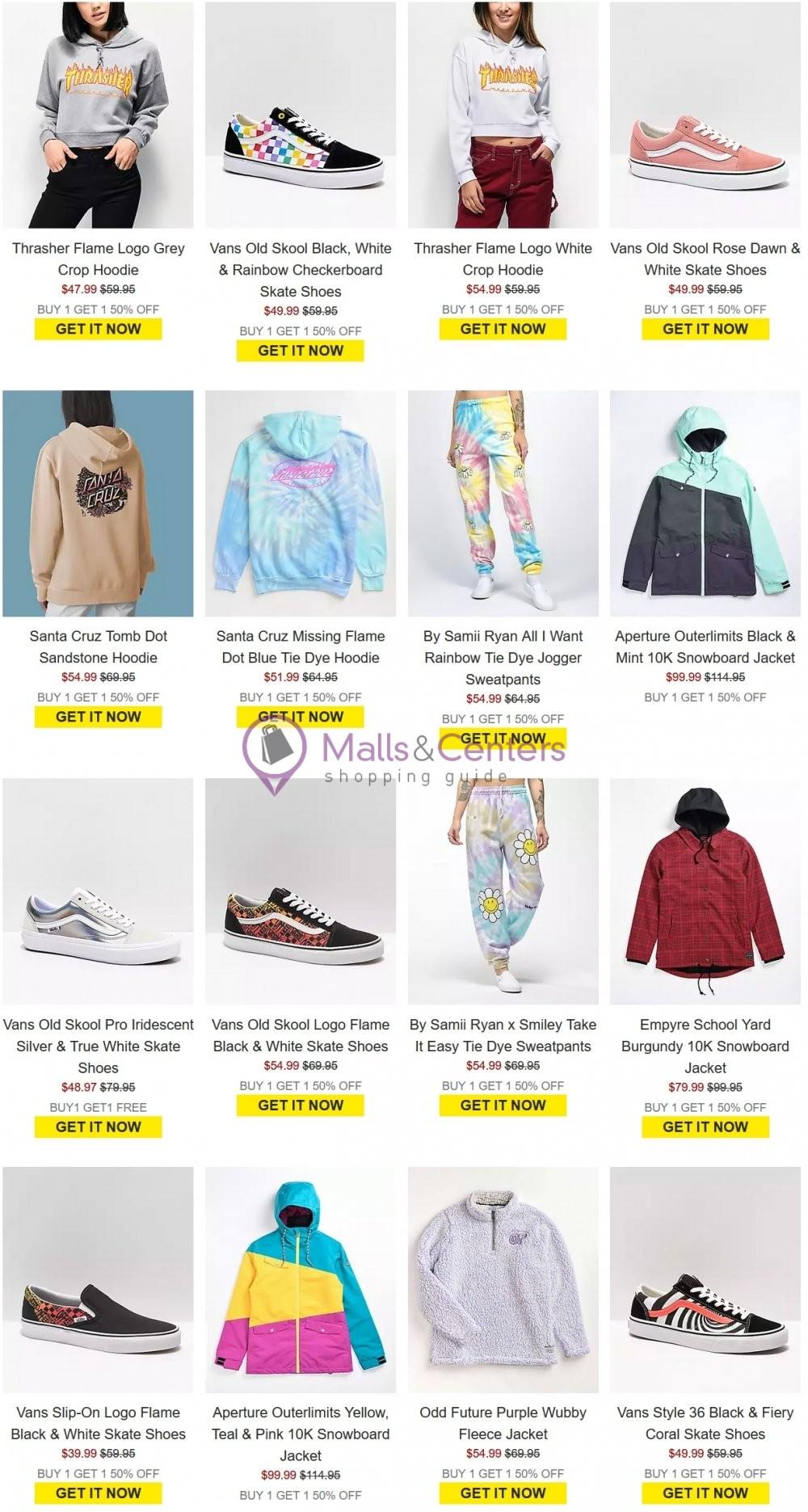 weekly ads Zumiez - page 1 - mallscenters.com